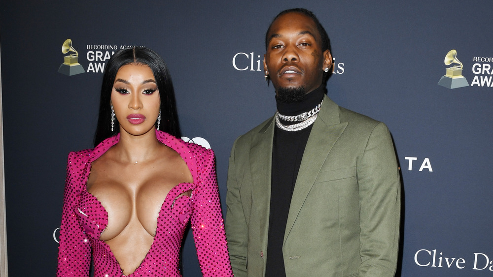 Cardi B and Offset at the Grammys