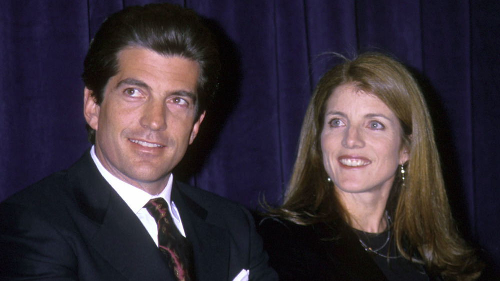 John F. Kennedy Jr. and Caroline Kennedy Schlossberg smiling