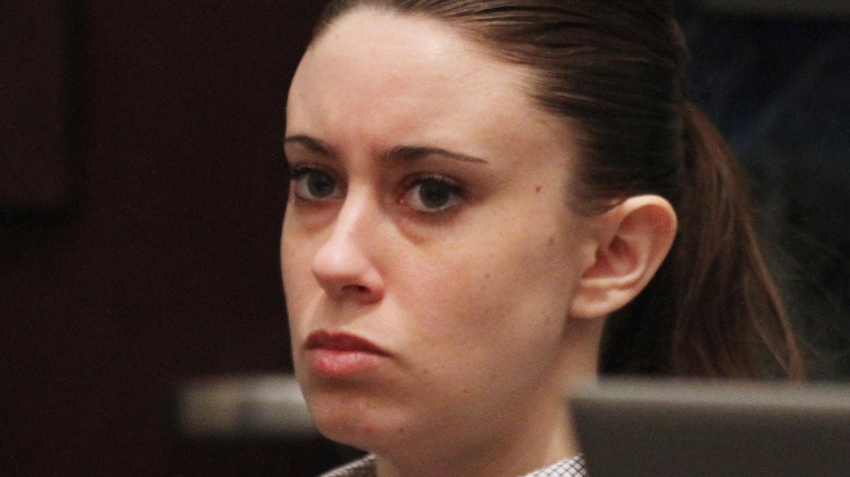 Casey Anthony serious in court