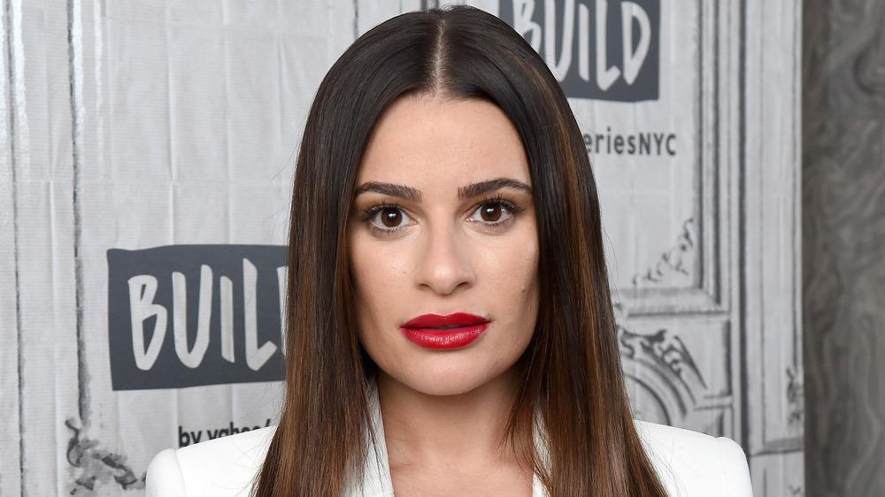 Lea Michele looking shocked