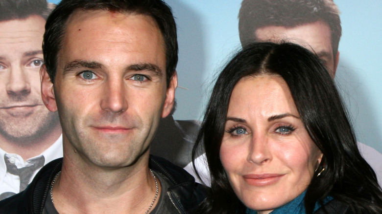 Courteney Cox with Johnny McDaid both smiling
