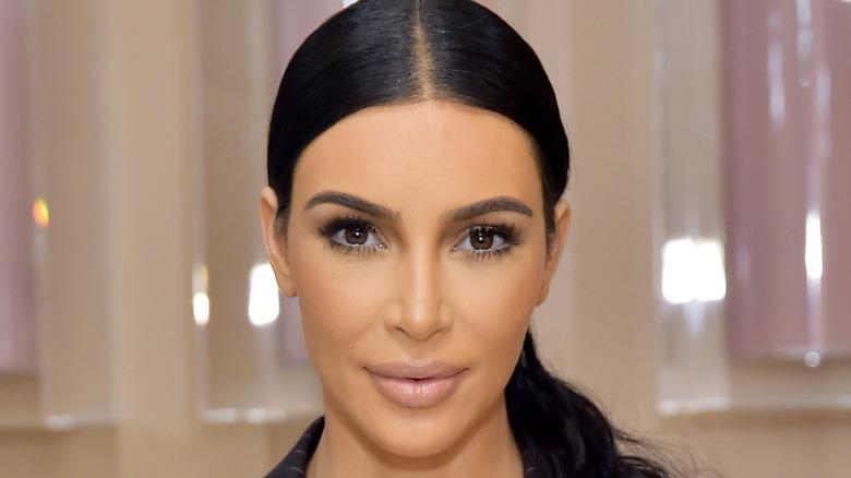 Kim Kardashian at KKW Beauty event