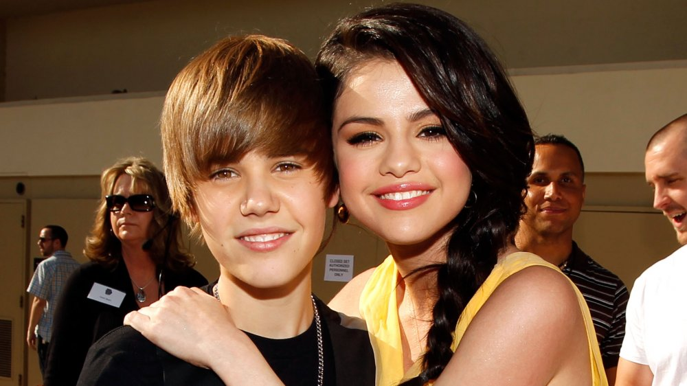 Justin Bieber and Selena Gomez at Nickelodeon's 23rd Annual Kids' Choice Awards
