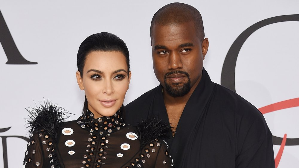 Kim Kardashian and Kanye West at the 2015 CFDA Fashion Awards