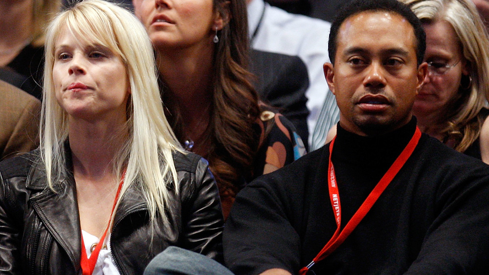 Tiger Woods and Elin Nordegren at an event