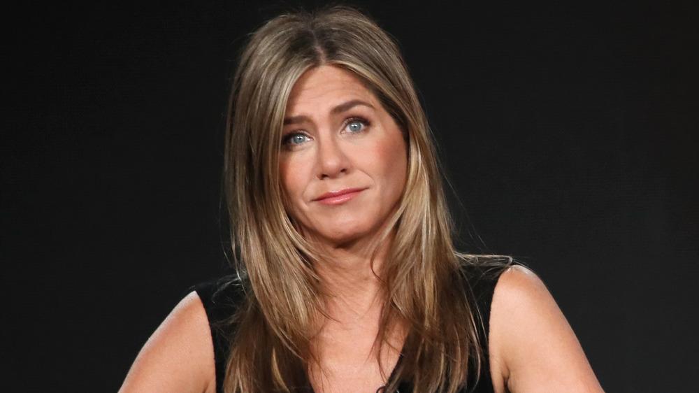 Jennifer Aniston looking at camera