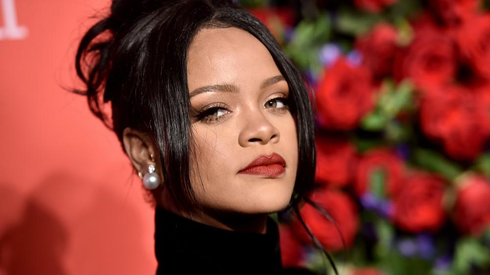 Rihanna looking at camera
