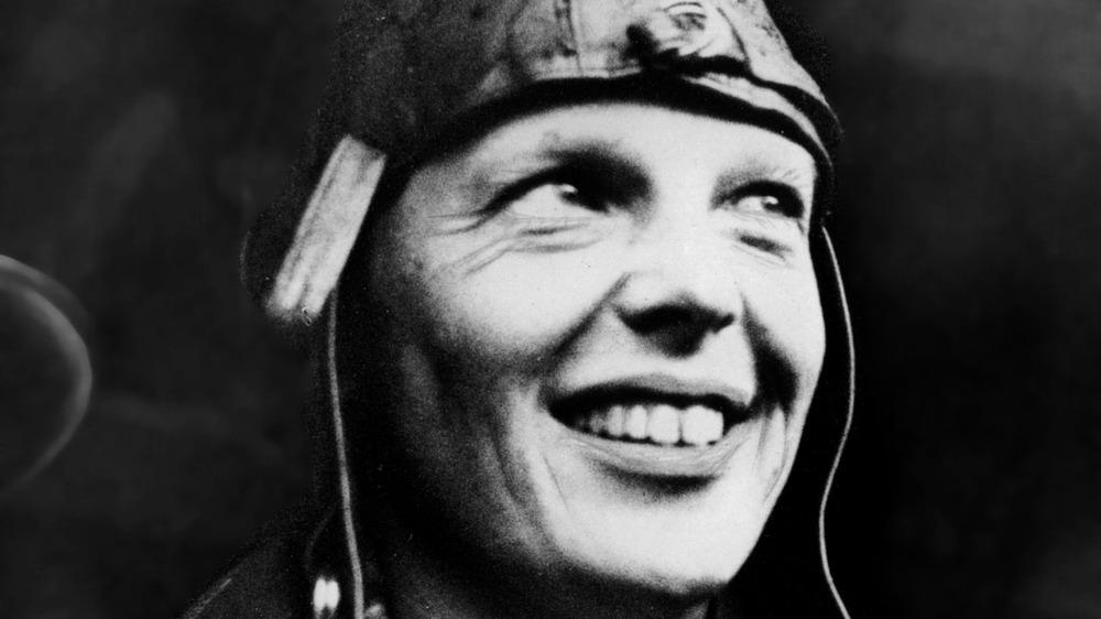 Amelia Earhart in a portrait