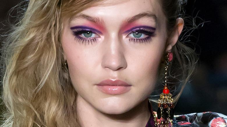 Gigi Hadid raising an eyebrow
