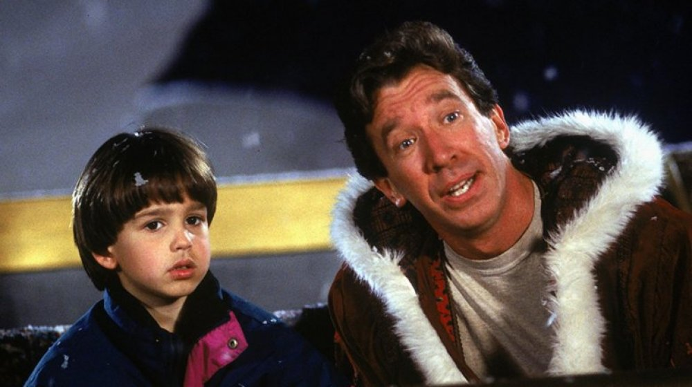 Eric Lloyd and Tim Allen star in The Santa Clause