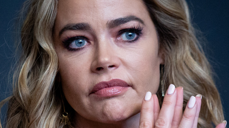 Denise Richards looking serious