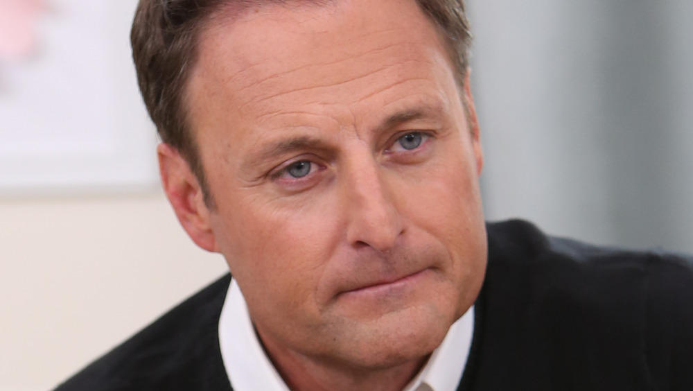 Chris Harrison sitting down for an interview