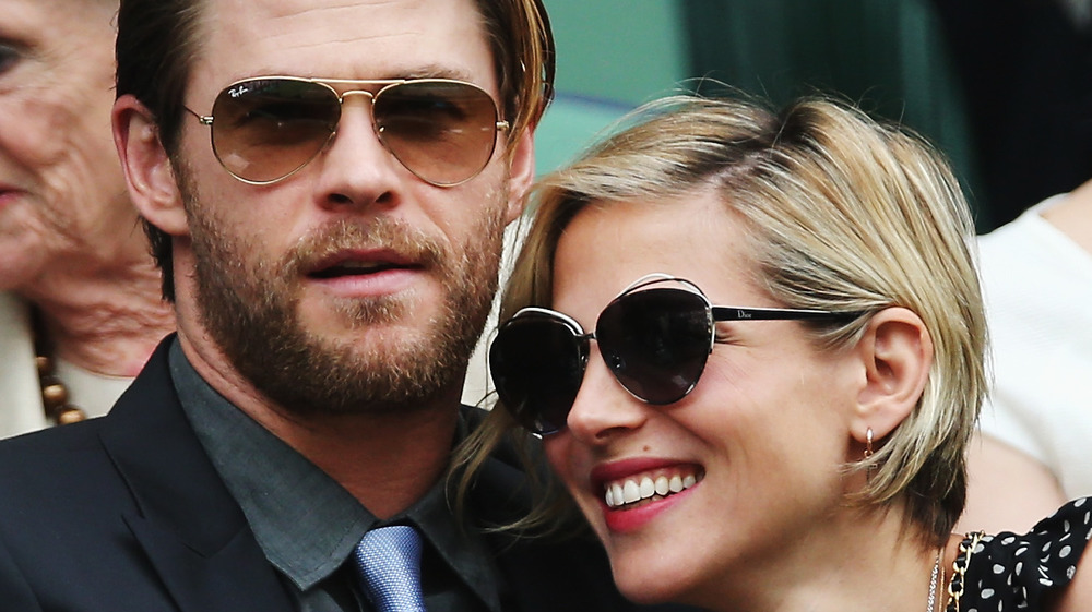 Chris Hemsworth and Elsa Pataky smiling