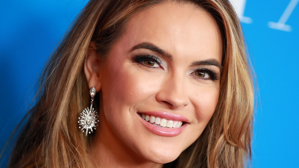 Chrishell Stause posing for cameras at an event