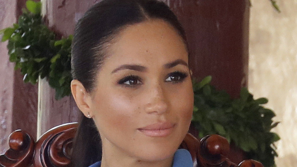 Meghan Markle reacts to performance