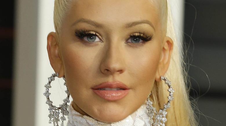 Christina Aguilera gazing in front