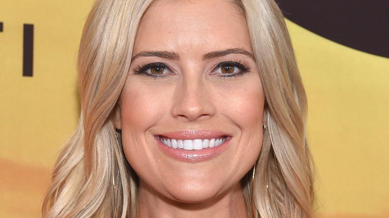 Christina Haack, 2019 red carpet, smiling, wearing makeup, blond hair down
