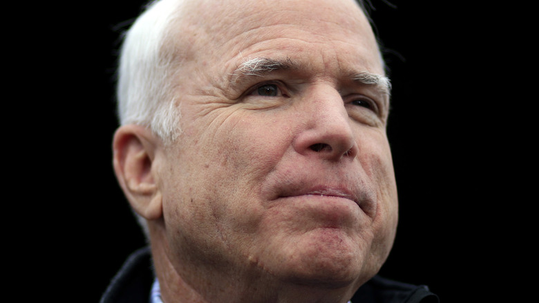 John McCain speaking at a campaign event