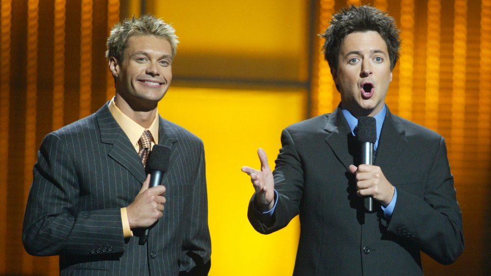 Ryan Seacrest and Brian Dunkleman co-hosting American Idol