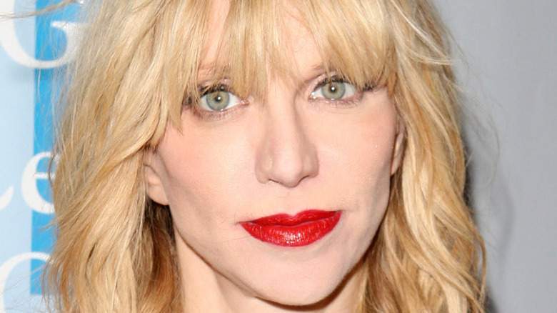 Courtney Love gazing in front