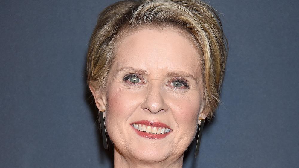 Cynthia Nixon smiling