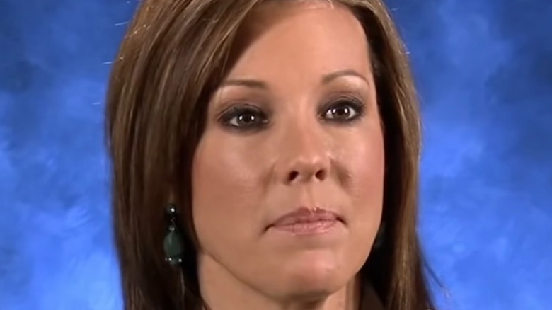 Kelli Finglass, not smiling, screenshot from show