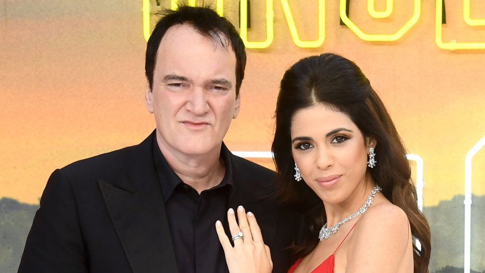 """Director Quentin Tarantino and Daniella Pick attend the """"Once Upon a Time... in Hollywood"""" UK Premiere"""