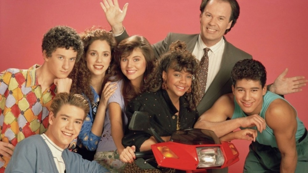 Promotional photo of the cast of Save by the Bell