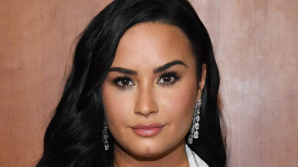 Demi Lovato attends Grammy Awards