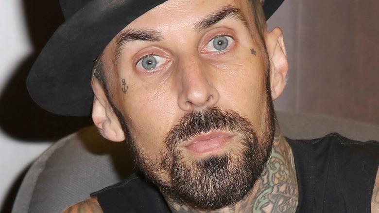 Travis Barker in hat