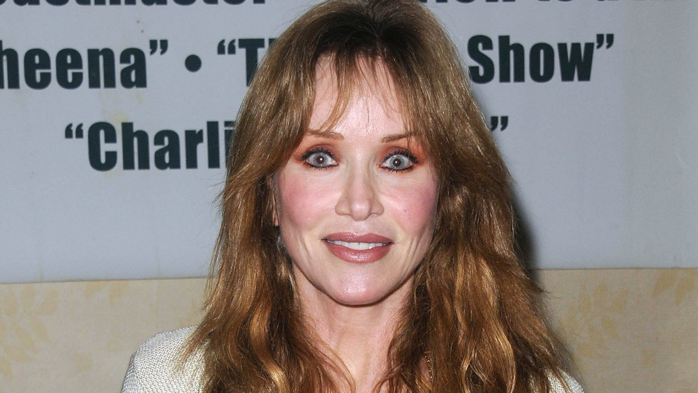 Tanya Roberts attends an event