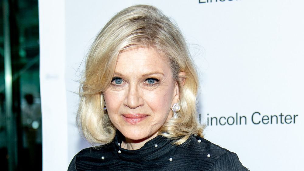 Diane Sawyer at step and repeat