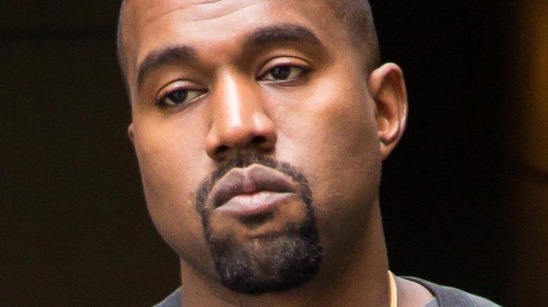 Kanye West walking