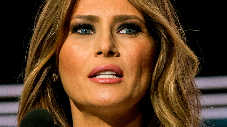 Melania Trump looking to the side at an event