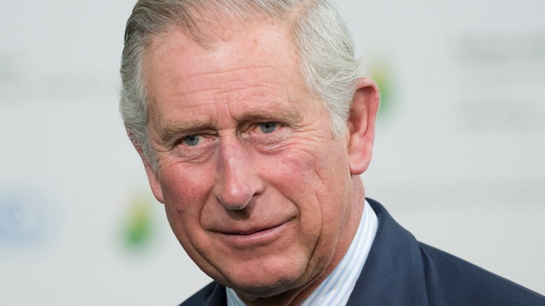 Prince Charles gives a sly smile at an event