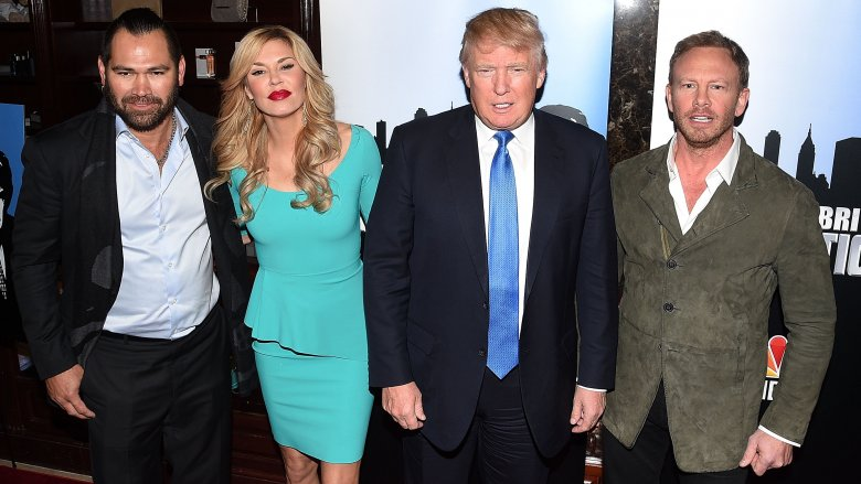 Donald Trump with Celebrity Apprentice contestants