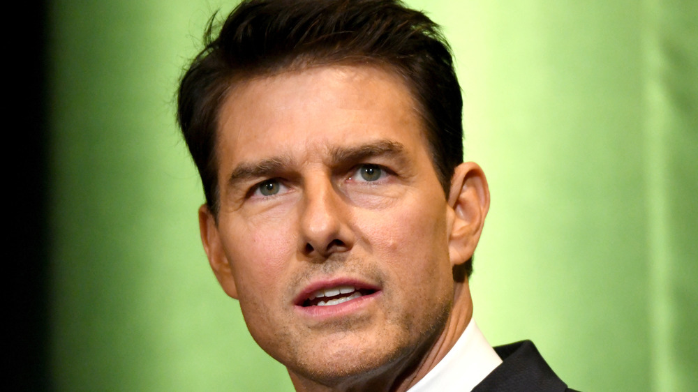 Tom Cruise looking past camera