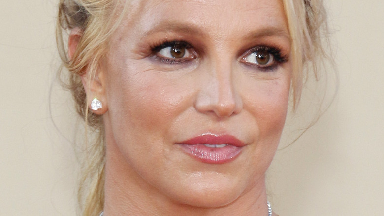 Britney Spears with a serious expression