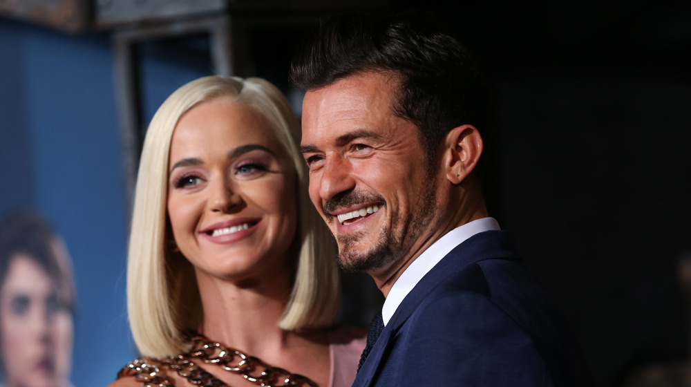 Orlando Bloom and Katy Perry at an event