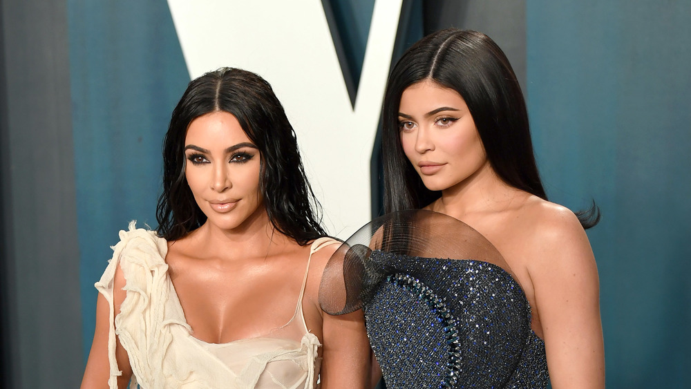 Kim Kardashian and Kylie Jenner at Vanity Fair after party