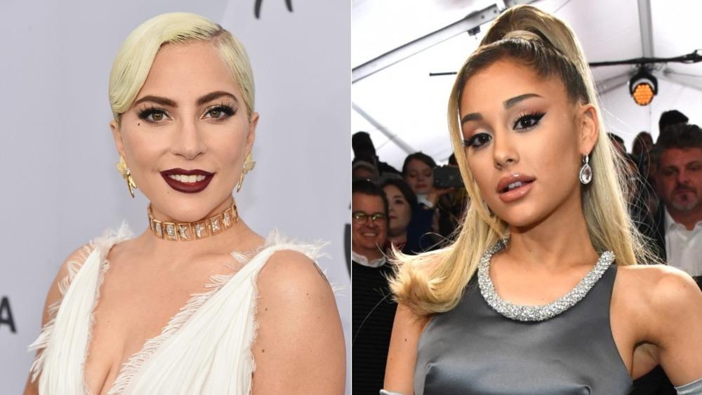 Lady Gaga and Ariana Grande on red carpet