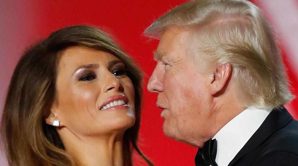 Melania and Donald Trump dancing