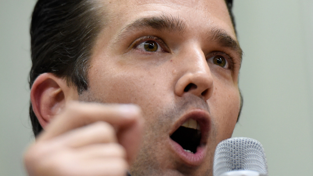 Donald Trump Jr. speaking at an event