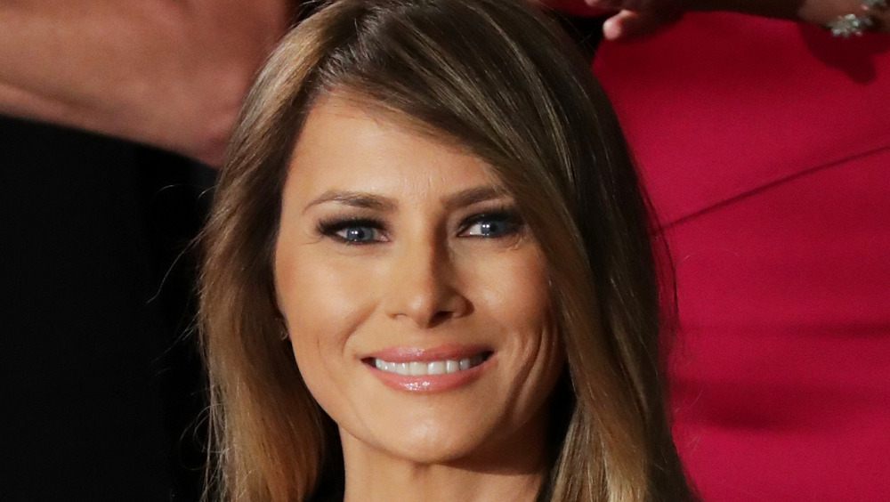 Melania Trump smiling while in Congress, February 2017