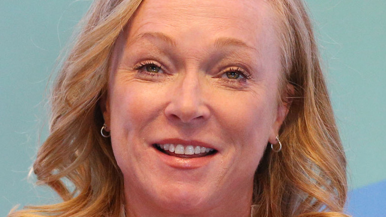 Kerstin Emhoff smiling speaking