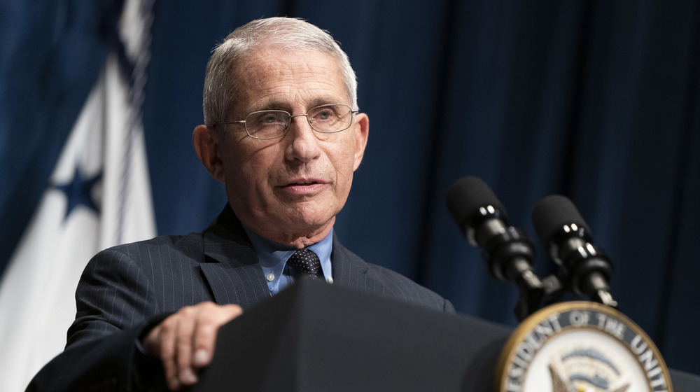 Anthony Fauci at a mic