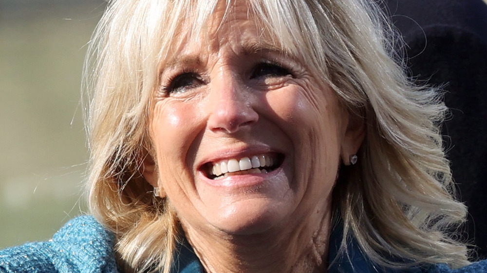 Dr. Jill Biden smiling at the 2021 Presidential Inauguration