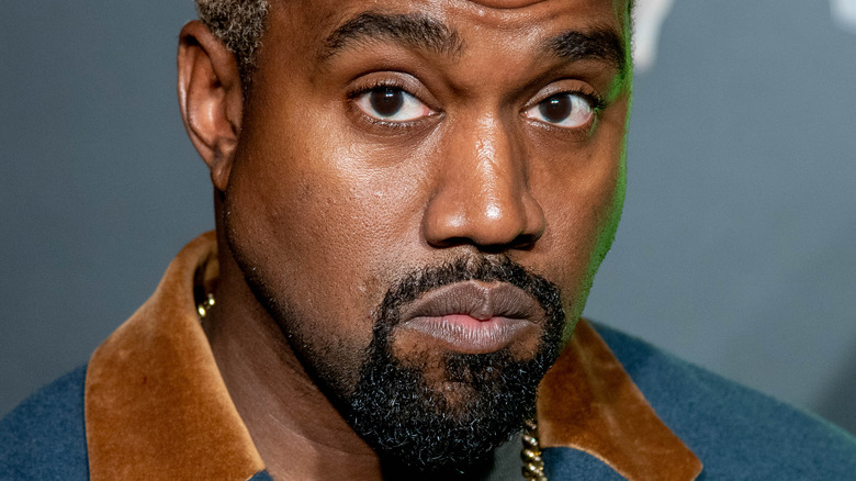 Kanye West at an event