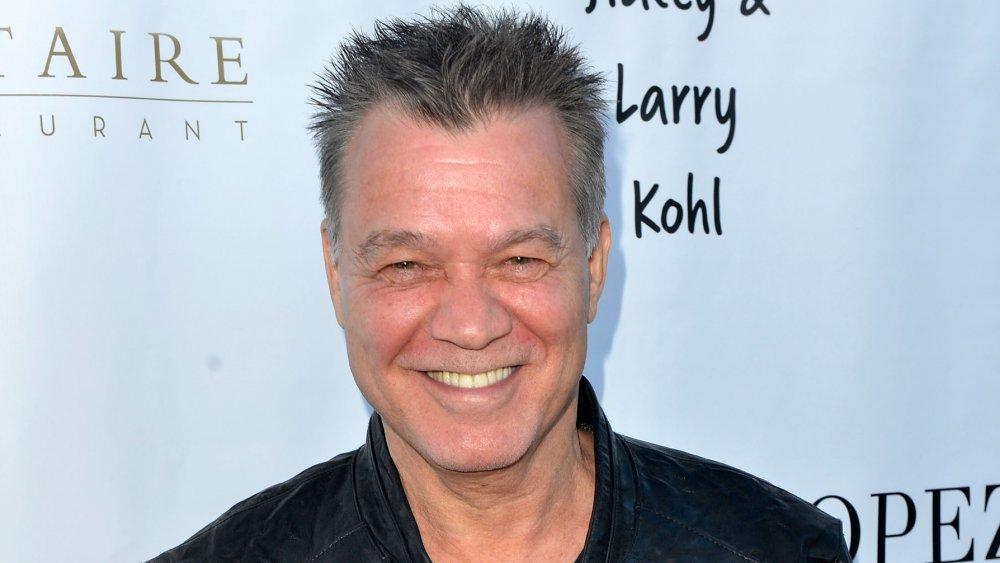 Eddie Van Halen smiling
