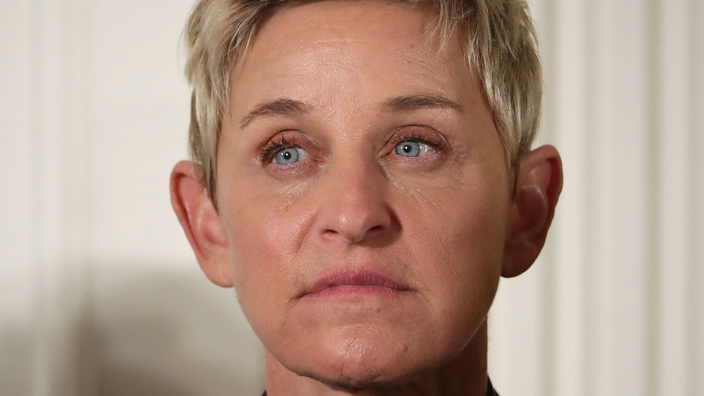 Ellen DeGeneres frowning